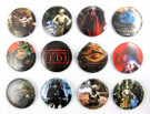 """1983 Star Wars ROTJ Set of 12 Buttons 2 1/4"""""""