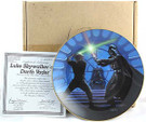 1987 Star Wars Luke and Darth Vader Plate in box with COA