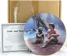 1987 Star Wars Luke and Yoda Plate in box with COA