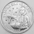 1984 Star Wars POTF Luke X-Wing Pilot Coin, light wear