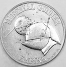 1984 Star Wars Imperial Gunner POTF Action Figure coin, heavy wear