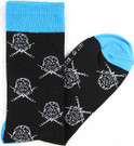 Star Wars Darth Vader Head Sabers Men's Crew Socks Shoe Size 6-12