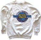 1987 Star Wars 10th Anniversary Logo White Sweatshirt Used