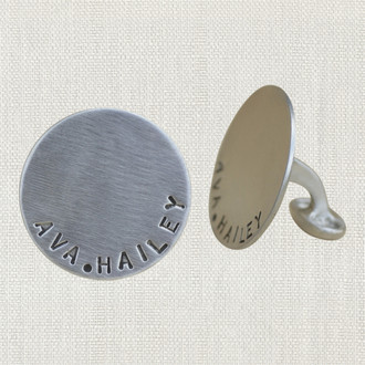 Men's Custom Name Cuff Links