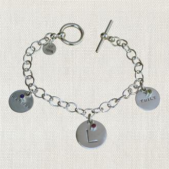 Custom Baby Name Faceted Bracelet