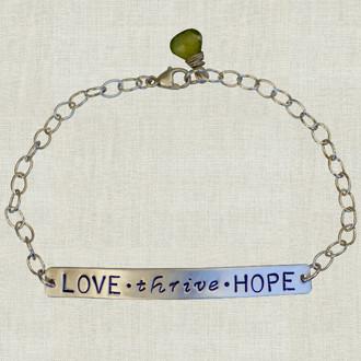 MaxLove Love ~ Thrive ~ Hope Bracelet