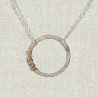 Petite Life Circle Bridesmaid Necklace