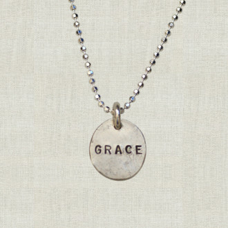 Eco Chic: Sterling Nugget Name Necklace