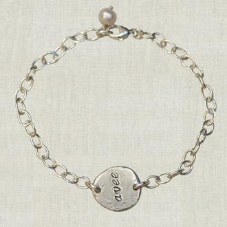 Eco Chic: Sterling Nugget Name Bracelet