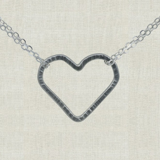 Striking Open Heart Necklace