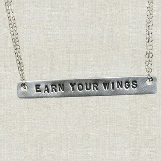 Earn Your Wings Bar Necklace