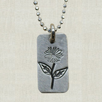 Spring Flower Tag Necklace