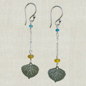 Aspen Leaf Dangle Earrings