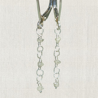 Raw Diamond Dangle Earrings