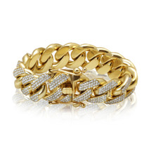 10k Yellow Gold 6ct Diamond XL Cuban Bracelet