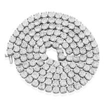 14k White Gold 76ct Diamond Tennis Chain