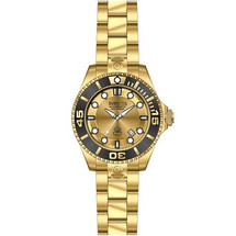 Invicta Men's Pro Diver Automatic 3 Hand Gold Dial Watch 19807