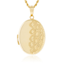 10k Yellow Gold Oval Locket