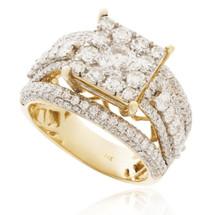 14K Yellow Gold 2.75ct Diamond Engagement Ring