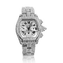 Cartier Roadster Roman Dial 22.5ct Diamond Watch