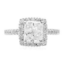 18k White Gold 2.46ct Princess Cut Diamond Ring