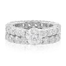 14k White Gold 2 pc. Set 6ct Diamond Ring