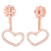 18k Rose Gold .23ct Diamond I Heart U Earrings
