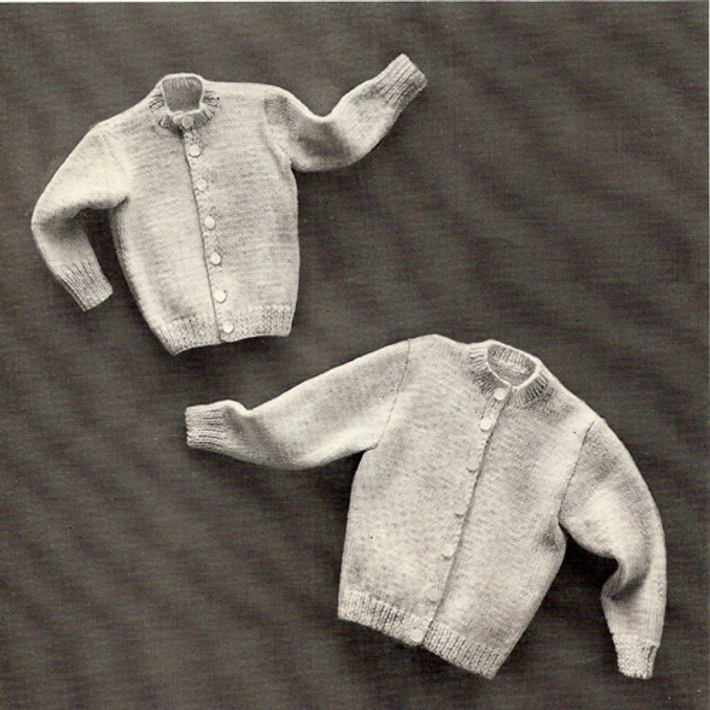 Vintage Childs Cardigan Knitting Pattern