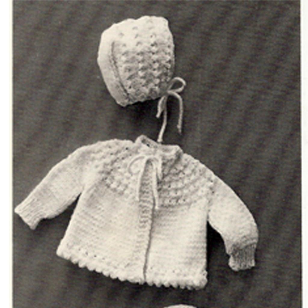 Vintage Knitted Jacket and Bonnet Pattern
