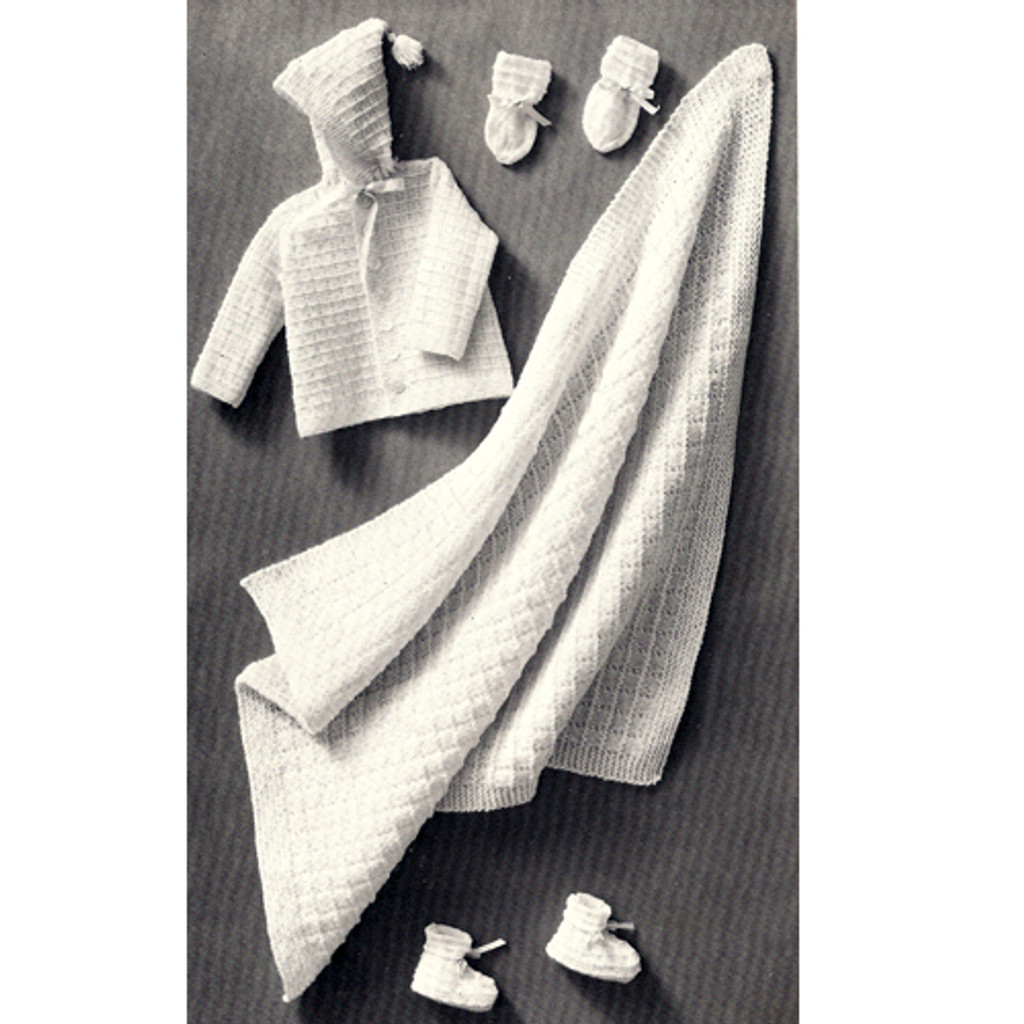 Knitting Pattern, Four Piece Baby Set