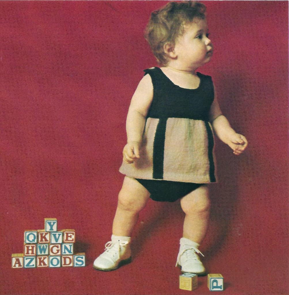 Knitting Pattern, Baby top & bottoms