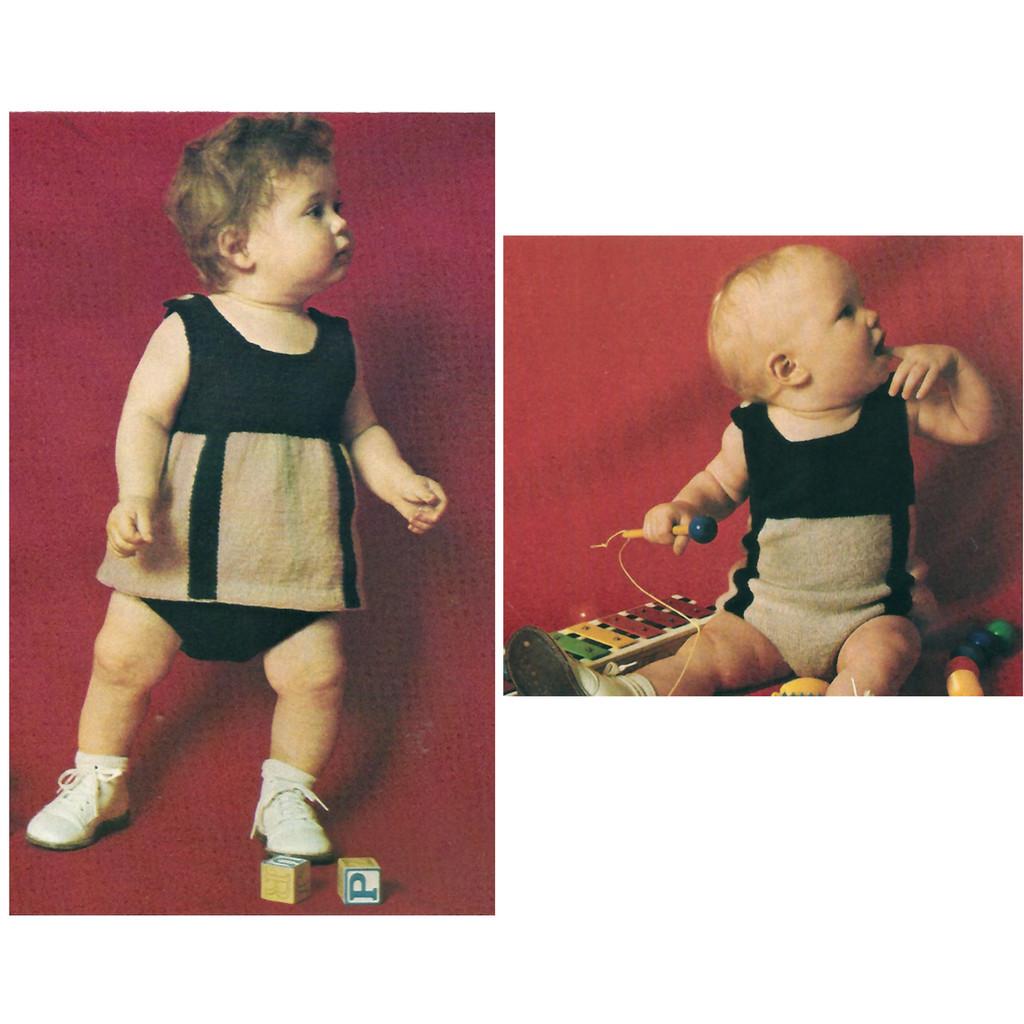 Toddler Knitted Top Panties Pattern Set