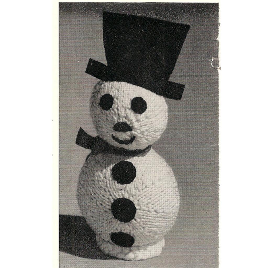 Knitting Pattern Snowman Doll Pattern, Rubber Ball Base