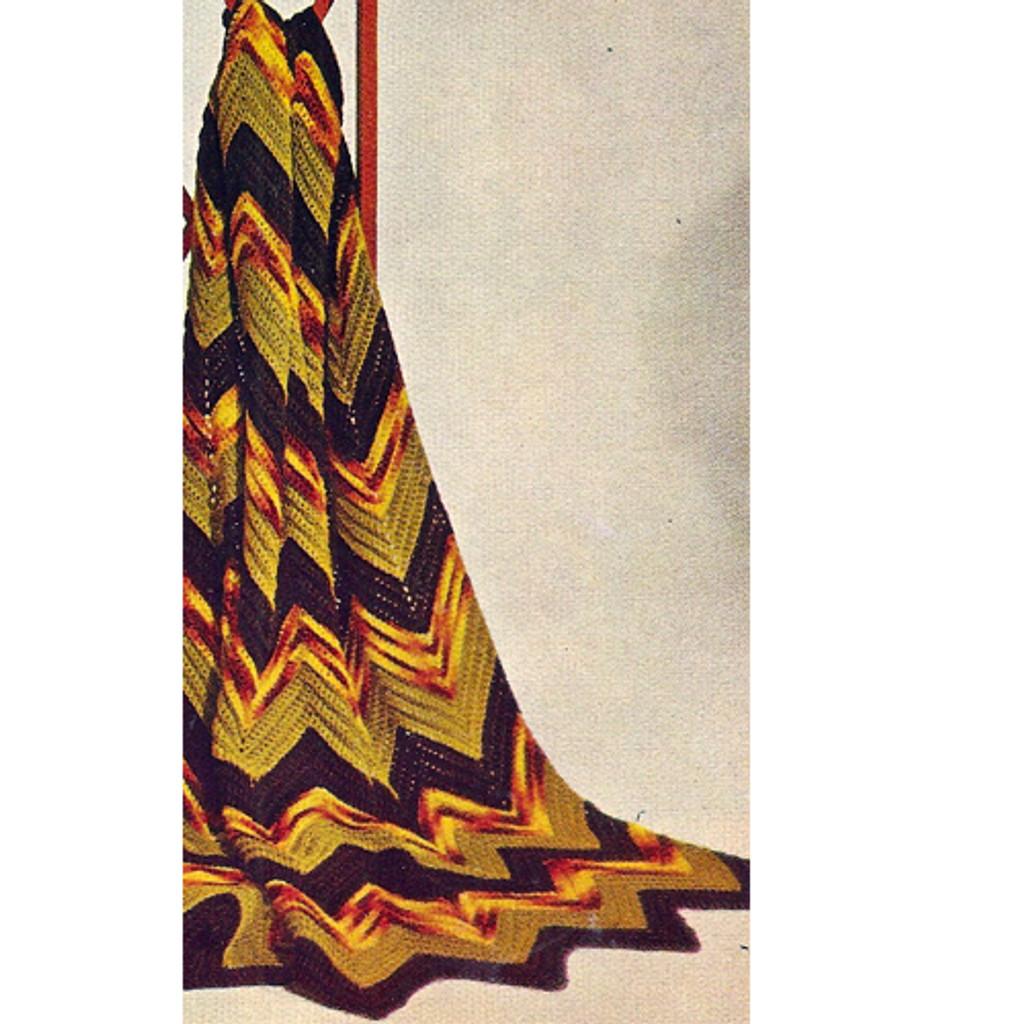 Masculine Crochet Ripple Afghan Pattern
