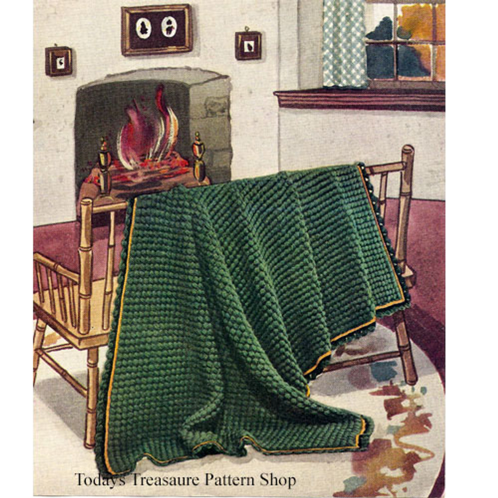 Crocheted Afghan Green Pastures No 6001