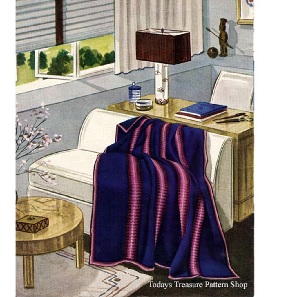 Vintage Stripe Crochet Afghan Pattern
