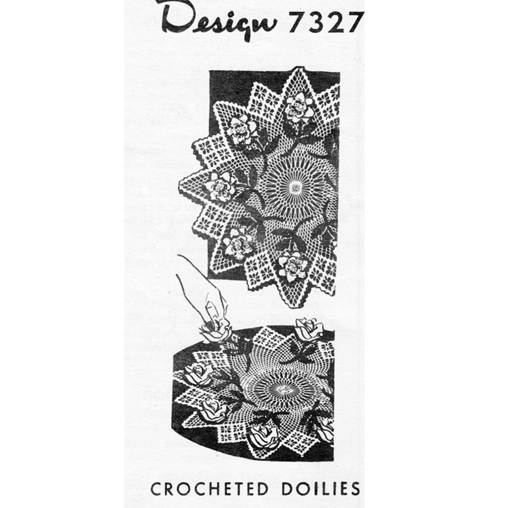 Mail Order Crochet Star and Rose Doily Pattern