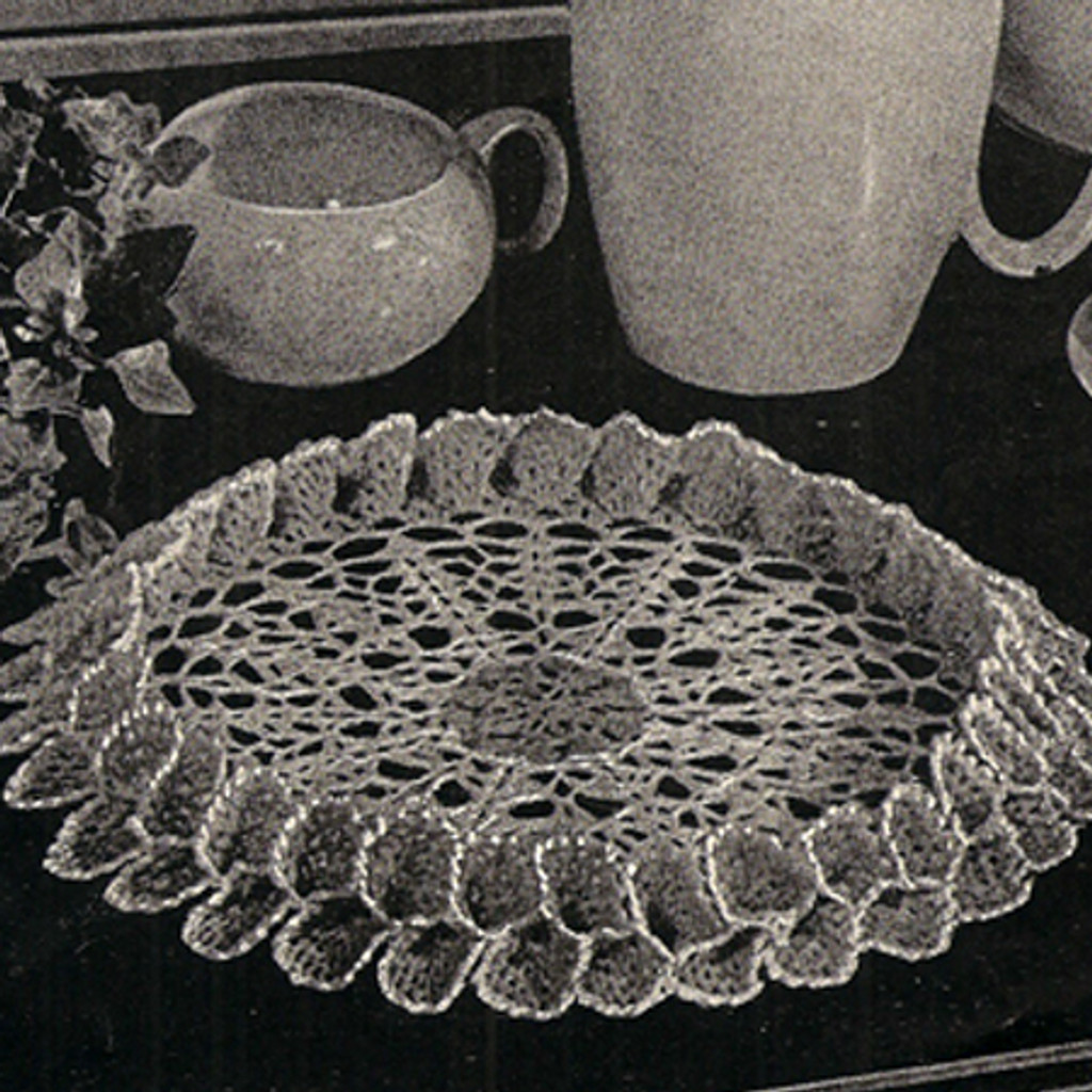 Vintage Tailored Doily Pattern, double fluted ruffle