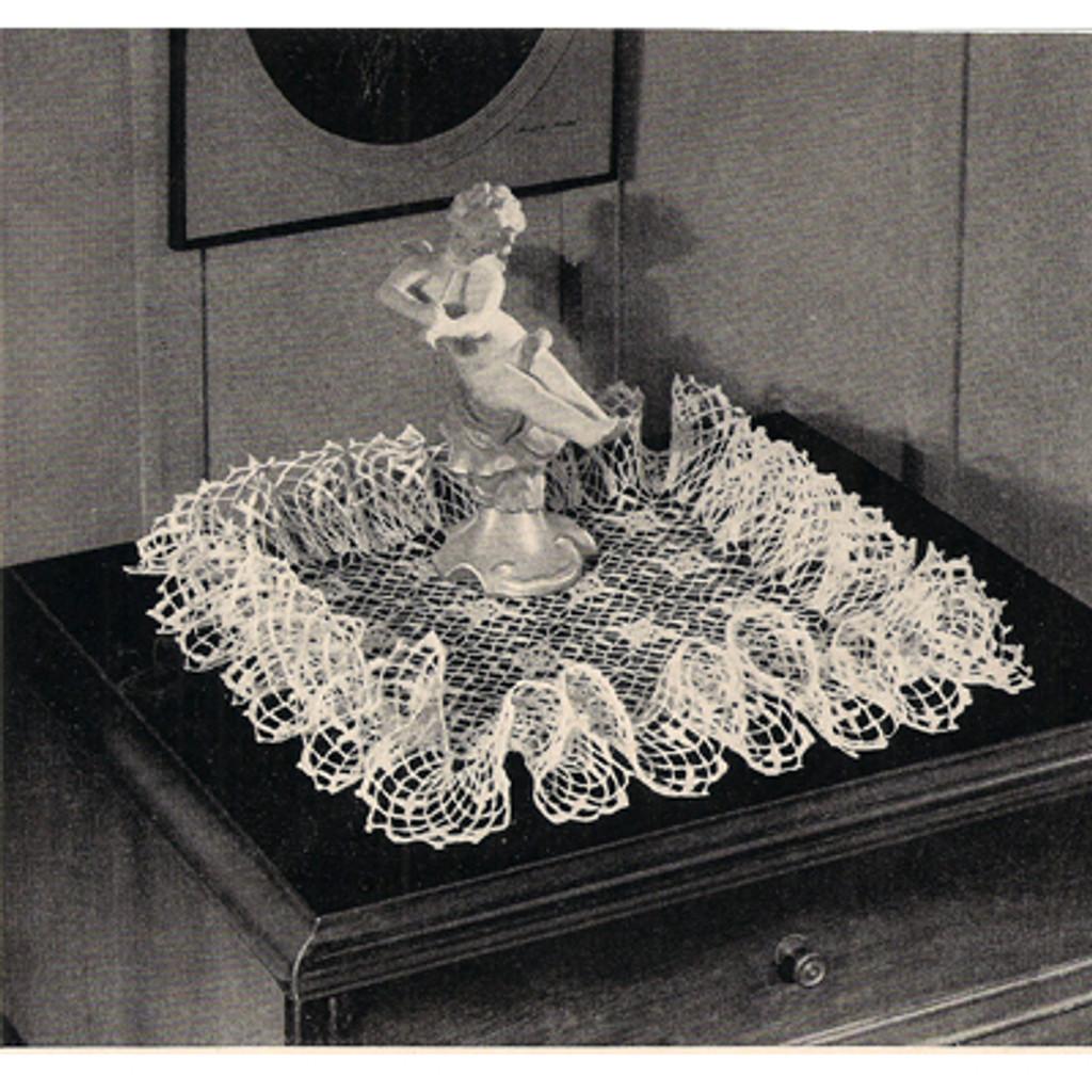 Vintage Square Crochet Doily Pattern