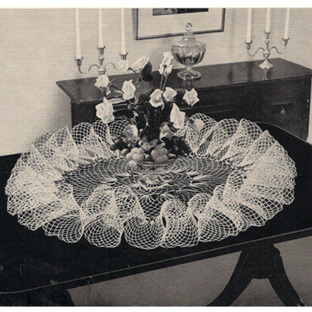 Crocheted Victorian Ruffled Doily Pattern