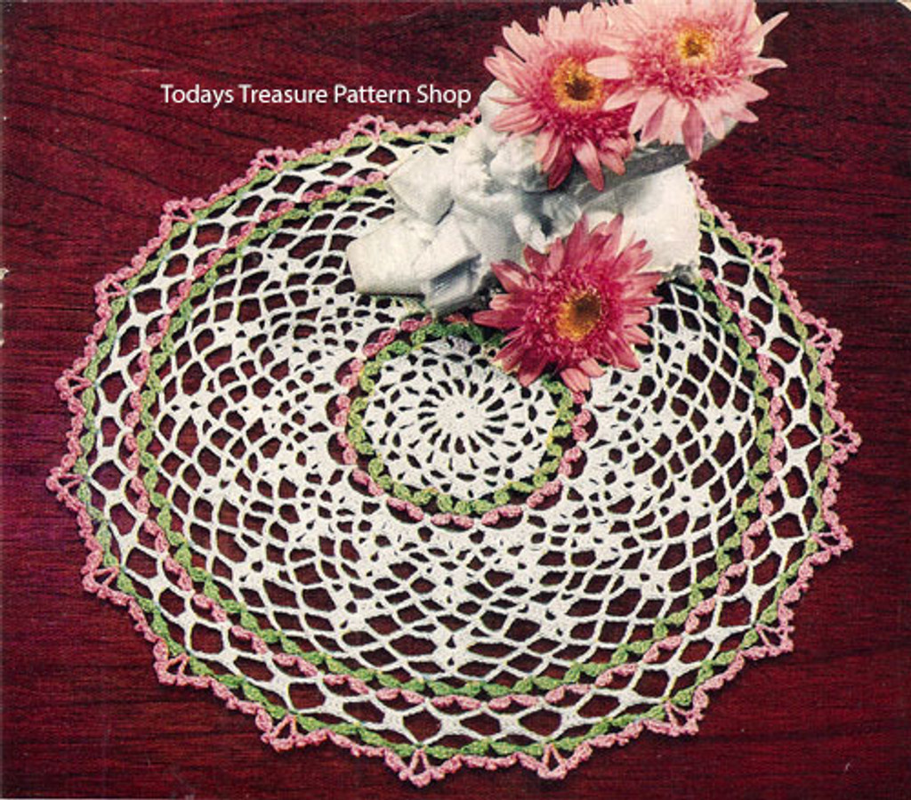 Pretty in Pink Crocheted Doily Pattern