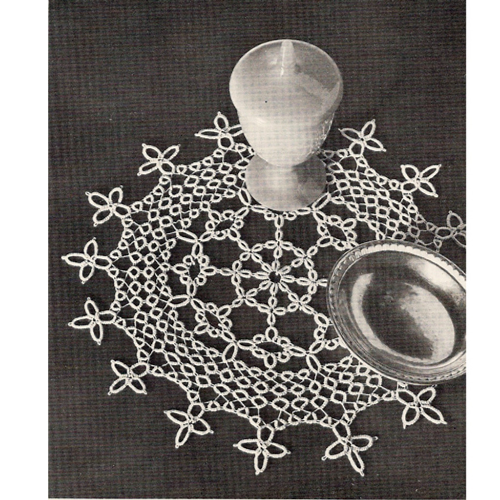 Vintage Tatted Doily Pattern, Queen's Lace