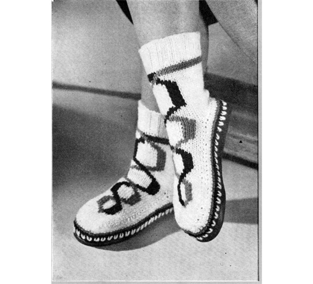 Vintage Link High Top Knitted Boots Pattern