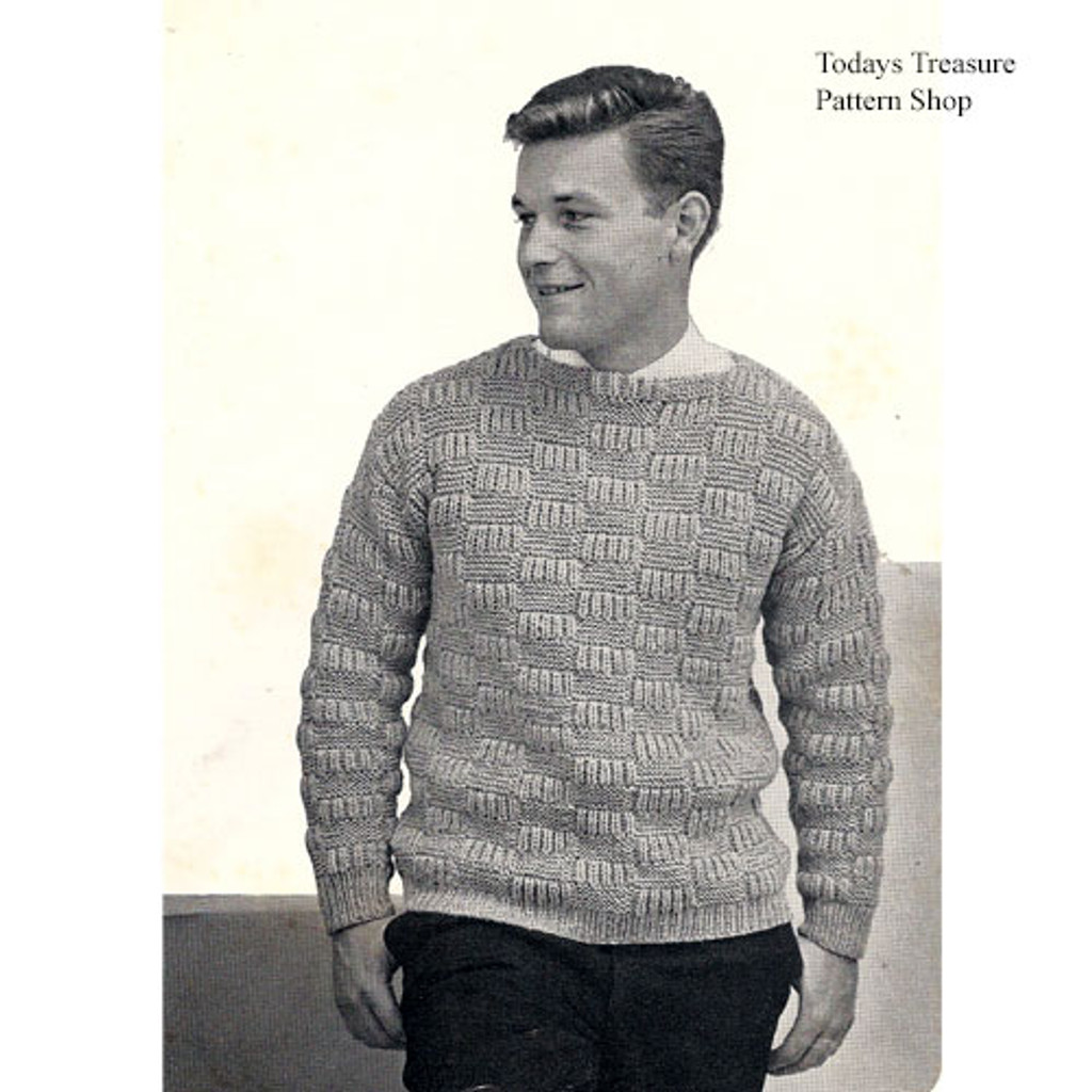 Knitted Mans Bulky Pullover Pattern