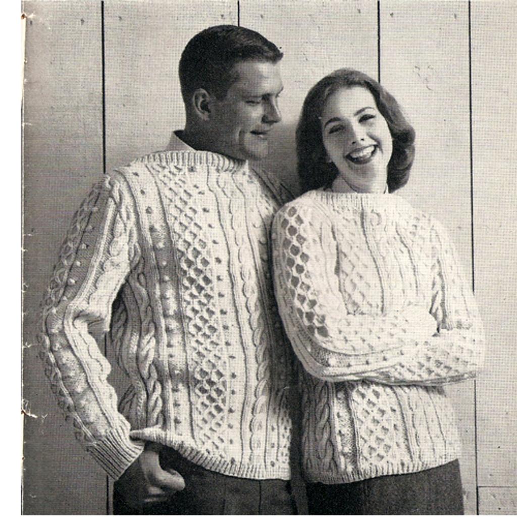 Aran Knit Sweaters Pattern