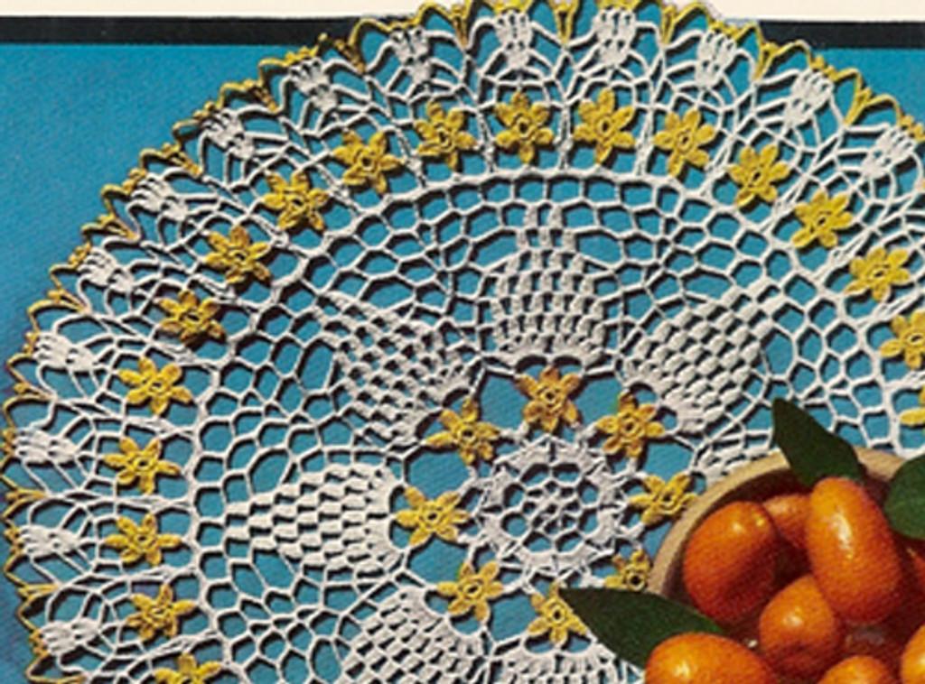Pineapple Crochet Orange Blossom Doily Pattern