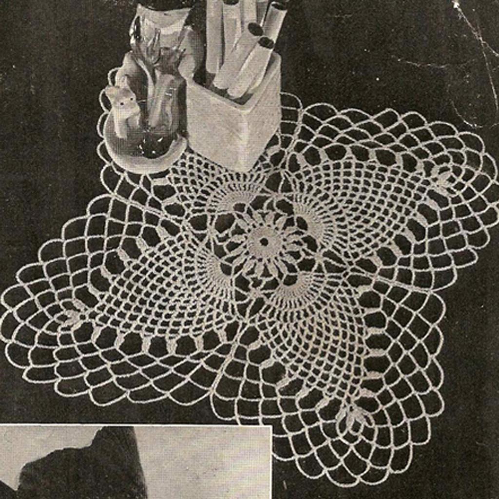 Vintage Knit Crochet Shop Talk Crochet Pineapple Doily Patterns A