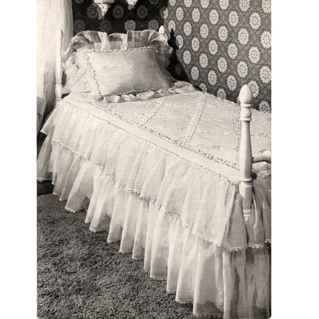 Crochet Ruffled Bedspread Skirt Pattern