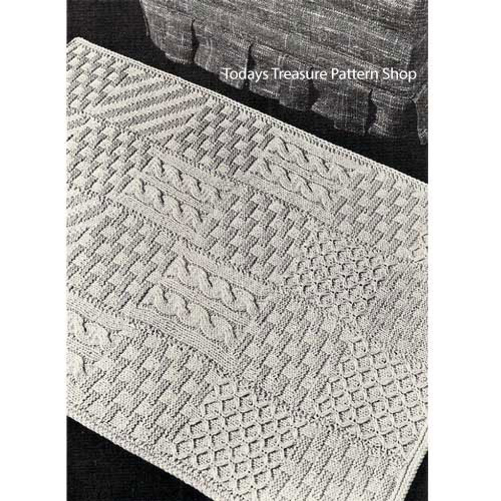 Oblong Crochet Area Rug Pattern