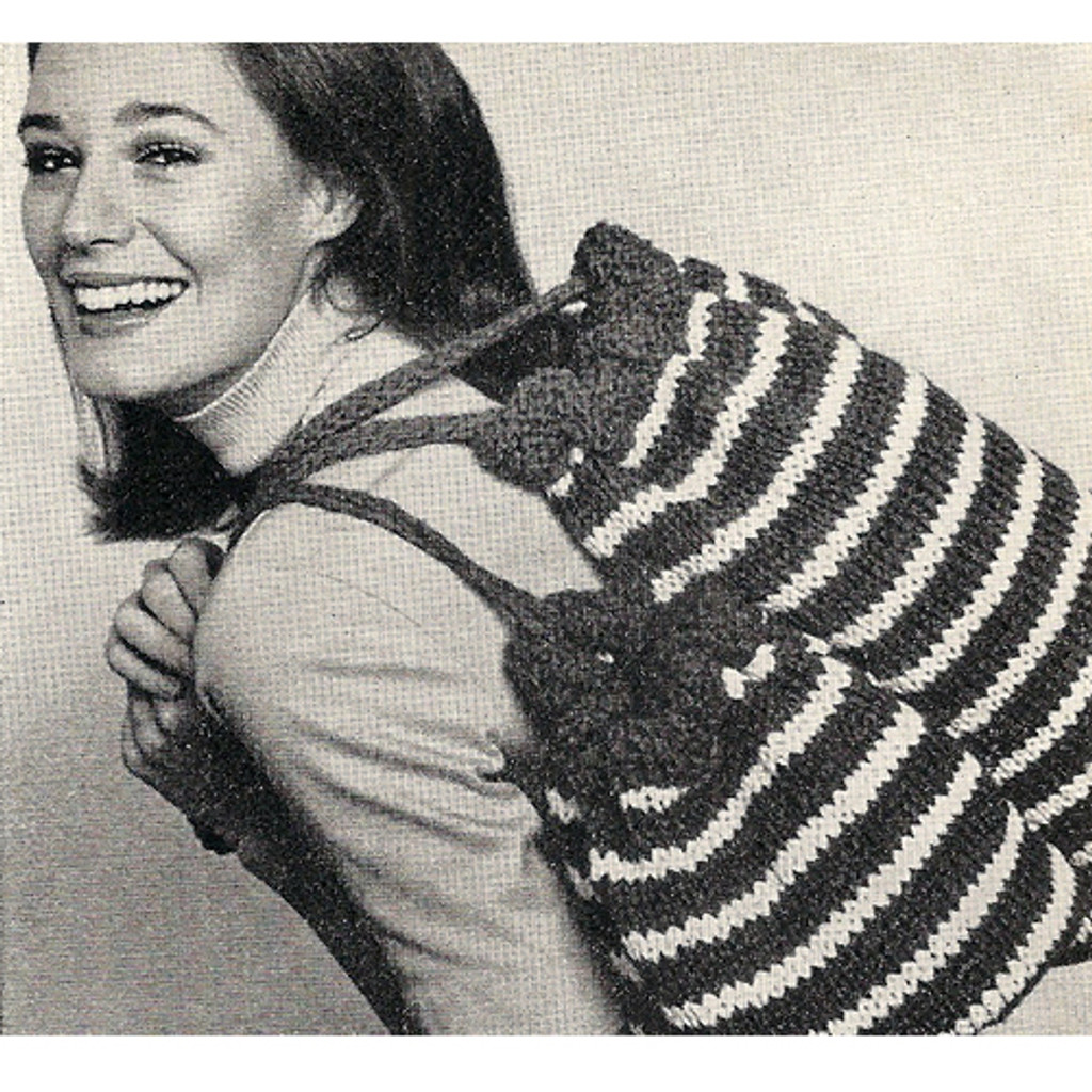 striped tote bags knitting pattern